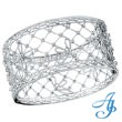 14K White Gold Antique Style Diamond Filigree Bangle