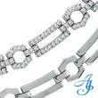 14K White Gold Open Link Diamond Stampato Necklace