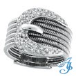 14K White Gold .50ct Diamond Cable Buckle Ring