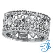 14K White Gold .66ct Diamond Designed Eternity Band
