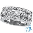 14K White Gold 2.15ct Diamond Large Eternity Ring Band