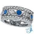 14K White Gold 0.60ct Sapphire and 1.51ct Diamond Eternity Ring Band