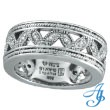 14K White Gold Antique Style .25ct Diamond Band Eternity Ring